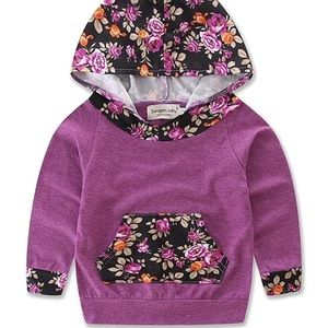Sangam Baby Fall Floral Pullover Hoodie